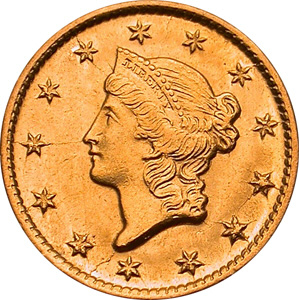 1849 gold dollar price