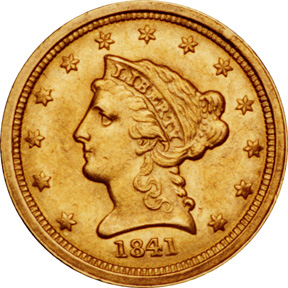 1841 quarter eagle prices