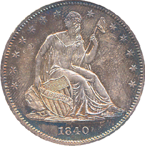 1840 no motto liberty dollar